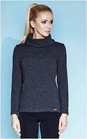 Блузка, кофточка женская серая, светлая с длинным рукавом, теплая, свитер тонкий Zaps 2014, 2015