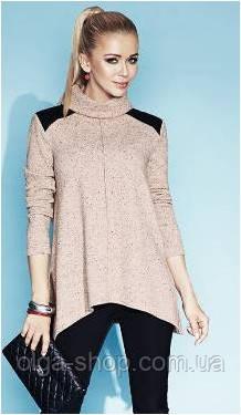 Блузка, кофточка женская серая, светлая с длинным рукавом, теплая, шерстяная, свитер тонкий Zaps 2014, 2015