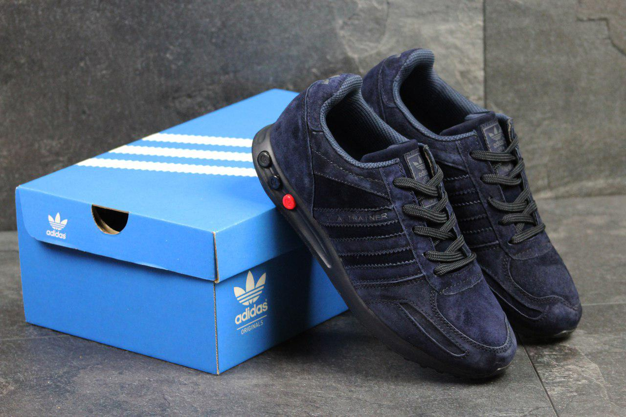 Кроссовки мужские Adidas (темно-синие), ТОП-реплика