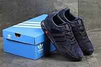 Кроссовки мужские Adidas (темно-синие), ТОП-реплика, фото 1