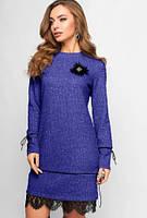 Платье Ангелия 3120, (5цв), демисезонное платье, тёплое платье, платье ангора, дропшиппинг