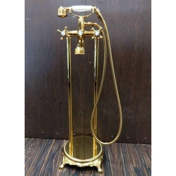 Напольный смеситель для ванны Atlantis 3011 (цвет-золото)