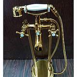 Напольный смеситель для ванны Atlantis 3011 (цвет-золото) , фото 2
