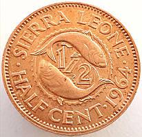 Сьерра-Леоне ½ цента 1964