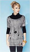 Блузка, кофточка, туника женская серая, с длинным рукавом, Zaps 2014, 2015