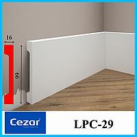 Прямоугольный плинус с кабель-каналом из дюрополимера высотой 99 мм, LPC-29 Cezar, 2,0 м.