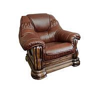 """Классическое кожаное кресло """"Гризли"""" (100 см)"""
