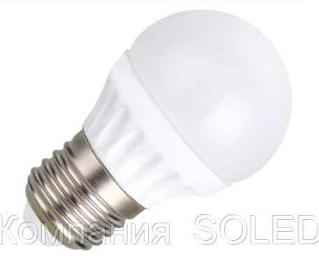 Led лампа 7W G45 630Lm 3000K E27
