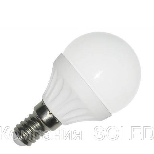 Светодиодная лампа 7W G45 630Lm 4200K E14