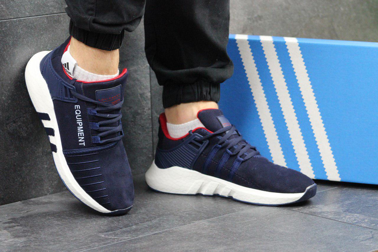 Кроссовки мужские Adidas Equipment ADV 91-17 (синие с красным), ТОП-реплика