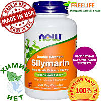 Now Foods, Силимарин двойной силы, 300 мг, 200 капсул в растительной оболочке, купить, цена, отзывы