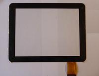 Оригинальный тачскрин / сенсор (сенсорное стекло) для 3Q Q-pad RC9724C (черный цвет, самоклейка)