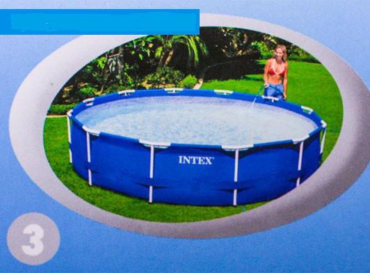 Каркасный круглый бассейн METAL FRAME POOL Intex 305-76 см Басейн
