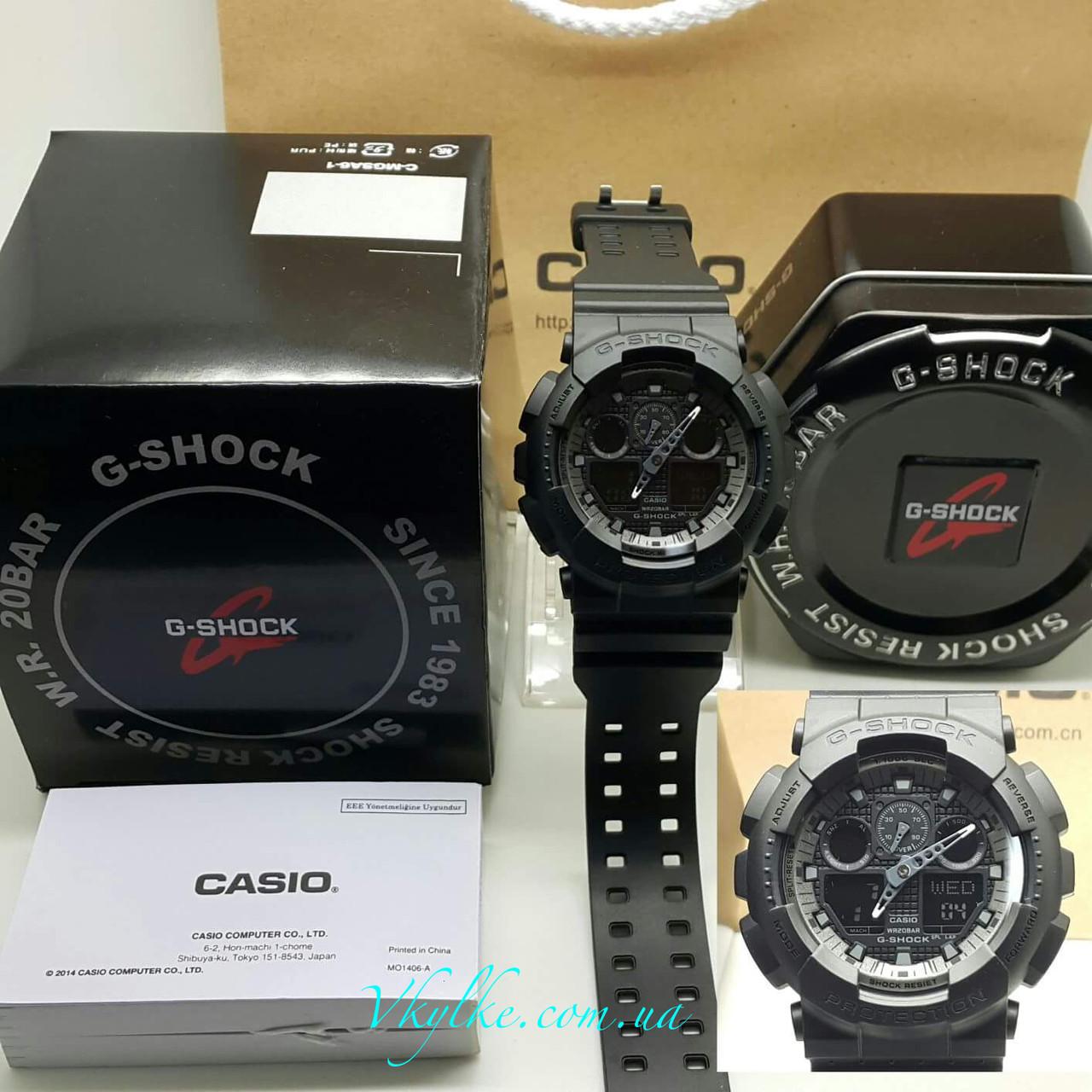 Годинник Casio G-Shock GA-100 Black AAA