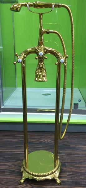 Смеситель напольный VERONIS Gold 02020