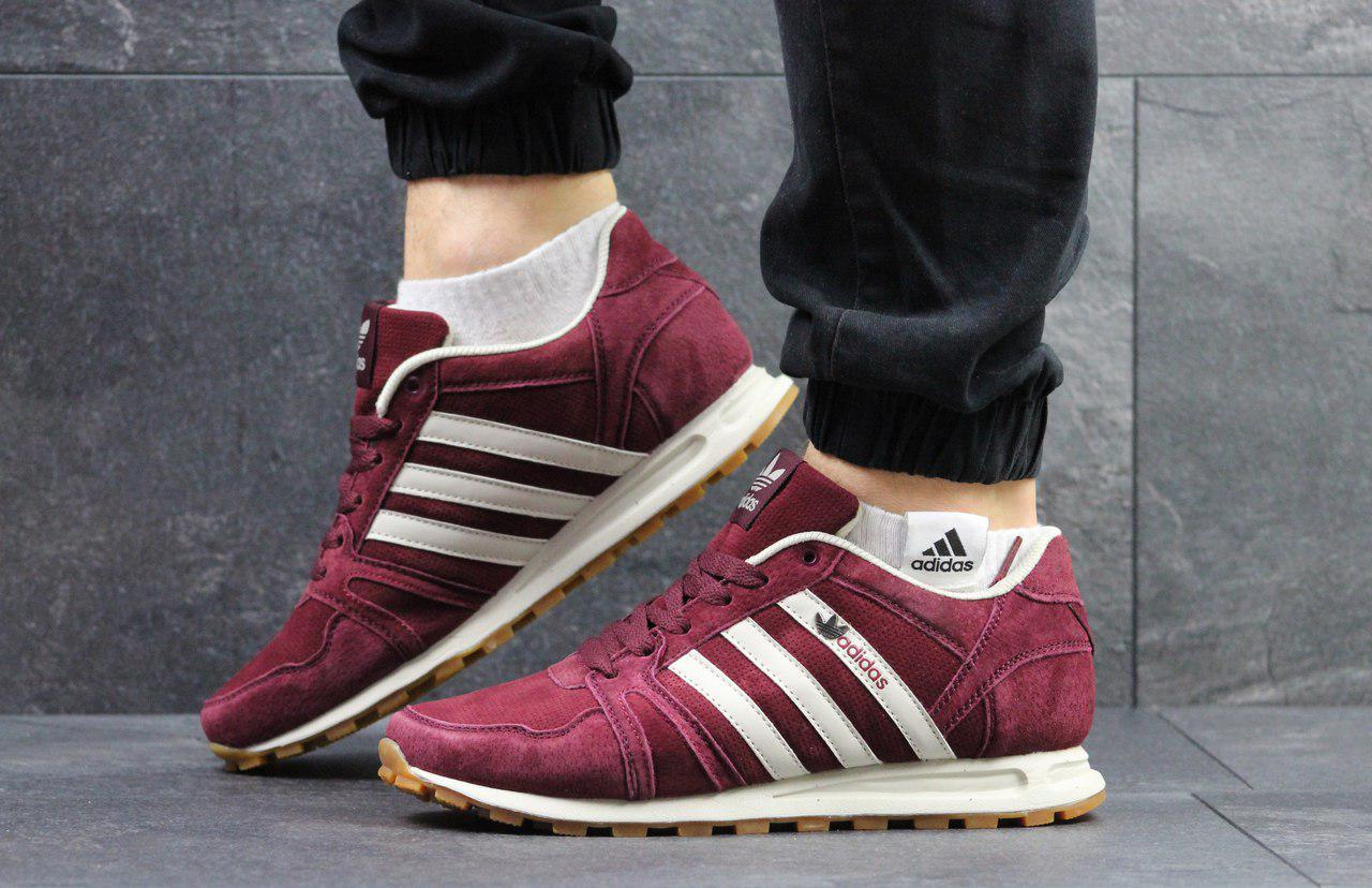Кроссовки мужские Adidas Neo (бордовые), ТОП-реплика  продажа, цена ... a58c04dc293