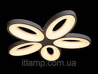 LED люстра потолочная в современном стиле на 5 плафонов Dh9012-5белая