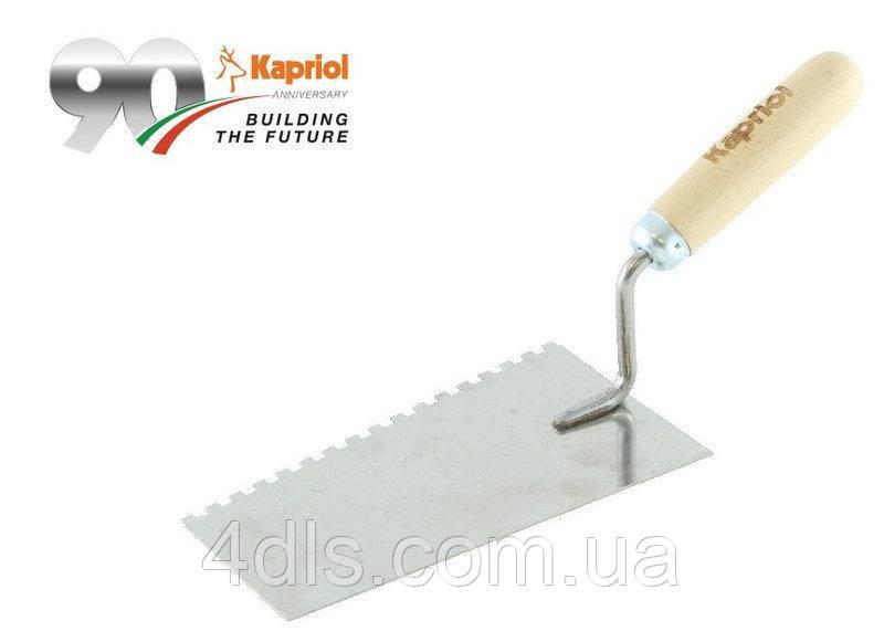 Кельма Kapriol нерж., зубч. 8 мм, лопатка 20 см, Италия