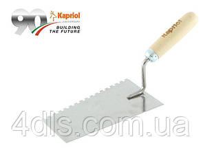 Кельма Kapriol нерж., зубч. 8 мм, лопатка 20 см, Італія