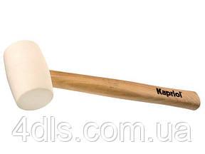 Резиновая белая киянка Kapriol, 500-700 гр., ручка дерево, 35 см