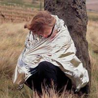 Открытый 210 x 160 см двойными бортами чрезвычайных одеяло палатка серебристый и золотой