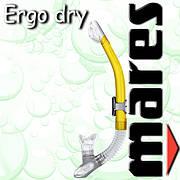 Трубка ERGO DRY для плавания (желтая)