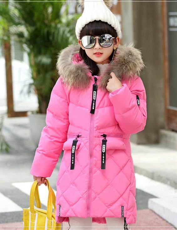 62871e5e571 Детское теплое зимнее пальто на девочку натуральный пуховик
