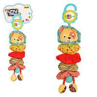 Погремушка Подвеска на коляску лев (погремушка, растяжка), плюш, 0122-NI