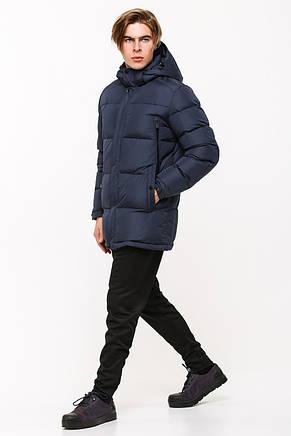 Мужская стильная зимняя батальная куртка SOOYT SOT17-M1168B темно-синяя (#401) больших размеров, фото 2