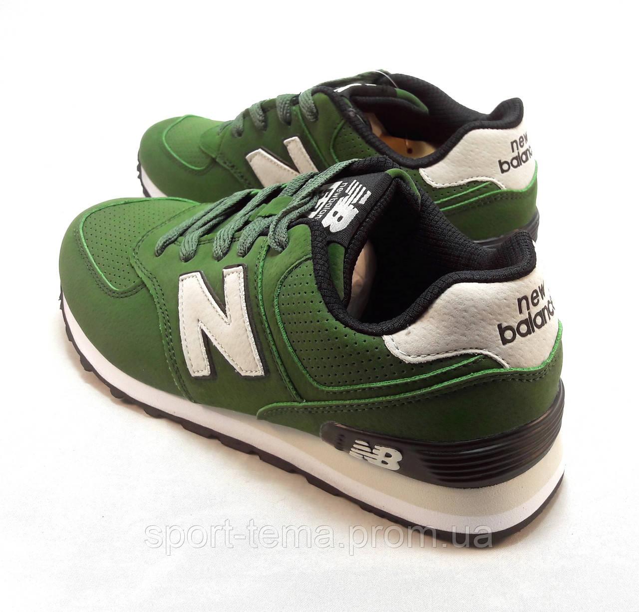 d75ea8a686e7 Кроссовки New Balance 574 замшевые зеленые унисекс (р.36,37,38,39,40 ...