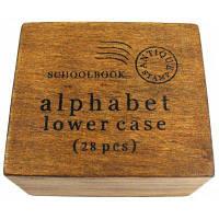 26 строчных букв английского алфавита забавный Стиль, пунктуация деревянные буквы набор уплотнений 28пк Как на изображении