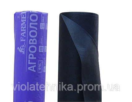 Агроволокно для мульчирования, плотность 50 г/м2, черное, рулон 3.2х100, фото 2