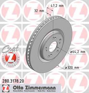 Тормозная система ZIMMERMANN 280.3178.20
