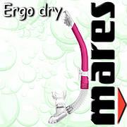 Трубка Mares ERGO DRY для подводного плавания