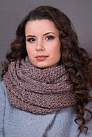 Стильный шарф-снуд цвета капучино