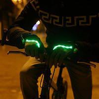 LEADBIKE практическая Открытый Велоспорт Ночная езда перчатки половина Finger с светом СИД L