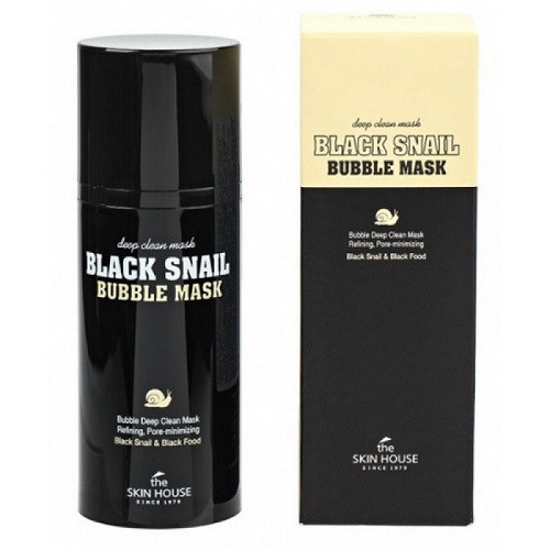 Очищающая кислородная маска с экстрактом улиткиThe Skin House Black Snail Bubble Mask