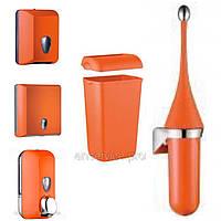Комплект для туалетной комнаты, Marplast, оранжевый