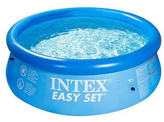 Надувной семейный бассейн 244-76см Easy Set Intex 28110 Басейн