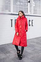 Женская длинная куртка-пуховик