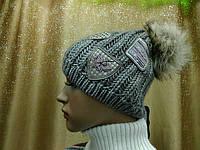 Молодежная женская шапка Bozena ТМ Камея,  шерстяная, цвет темный беж, фото 1