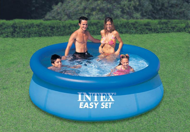 Надувной семейный бассейн 244-76см Easy Set Intex (Интекс) 28112 Басейн