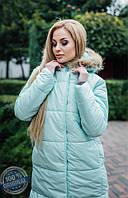 Куртка-пальто с натуральным мехом