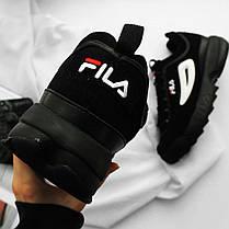 Женские кроссовки Fila Disruptor II Black/White 1010490 12V, Фила Дизраптор, фото 3