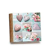 """Шкатулка-книга на магните с 9 отделениями """"Коллаж с сердцами"""""""