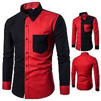 Рубашка черно-красная