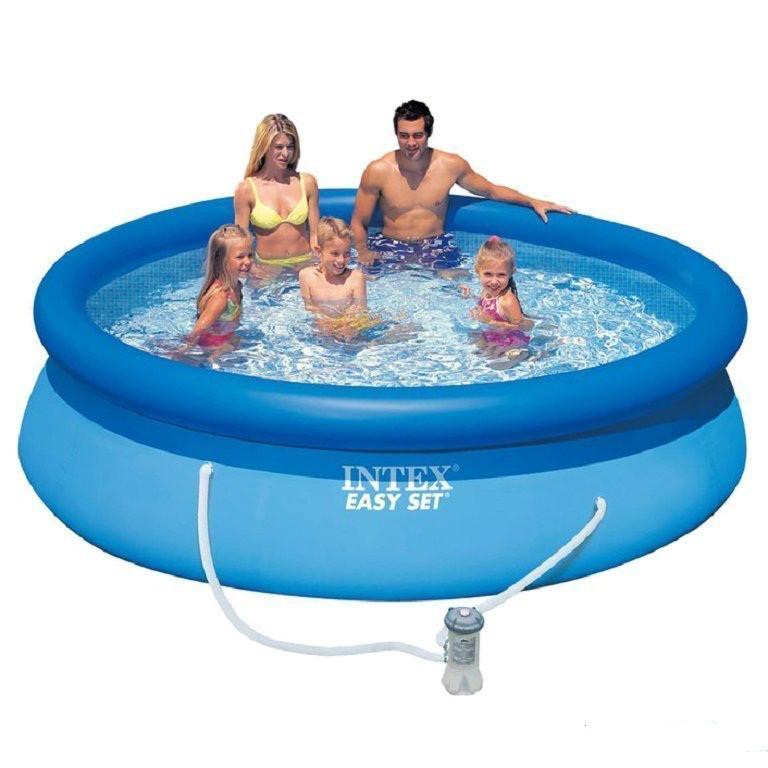 Надувний басейн Intex 28123. Сімейний Easy Set 305 х 76 см Басейн