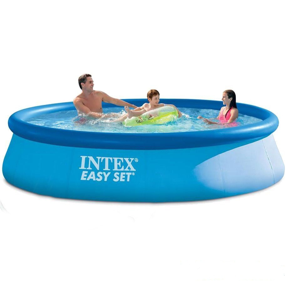 Надувной бассейн Intex 28143. Семейный Easy Set - 396 х 84 см Басейн