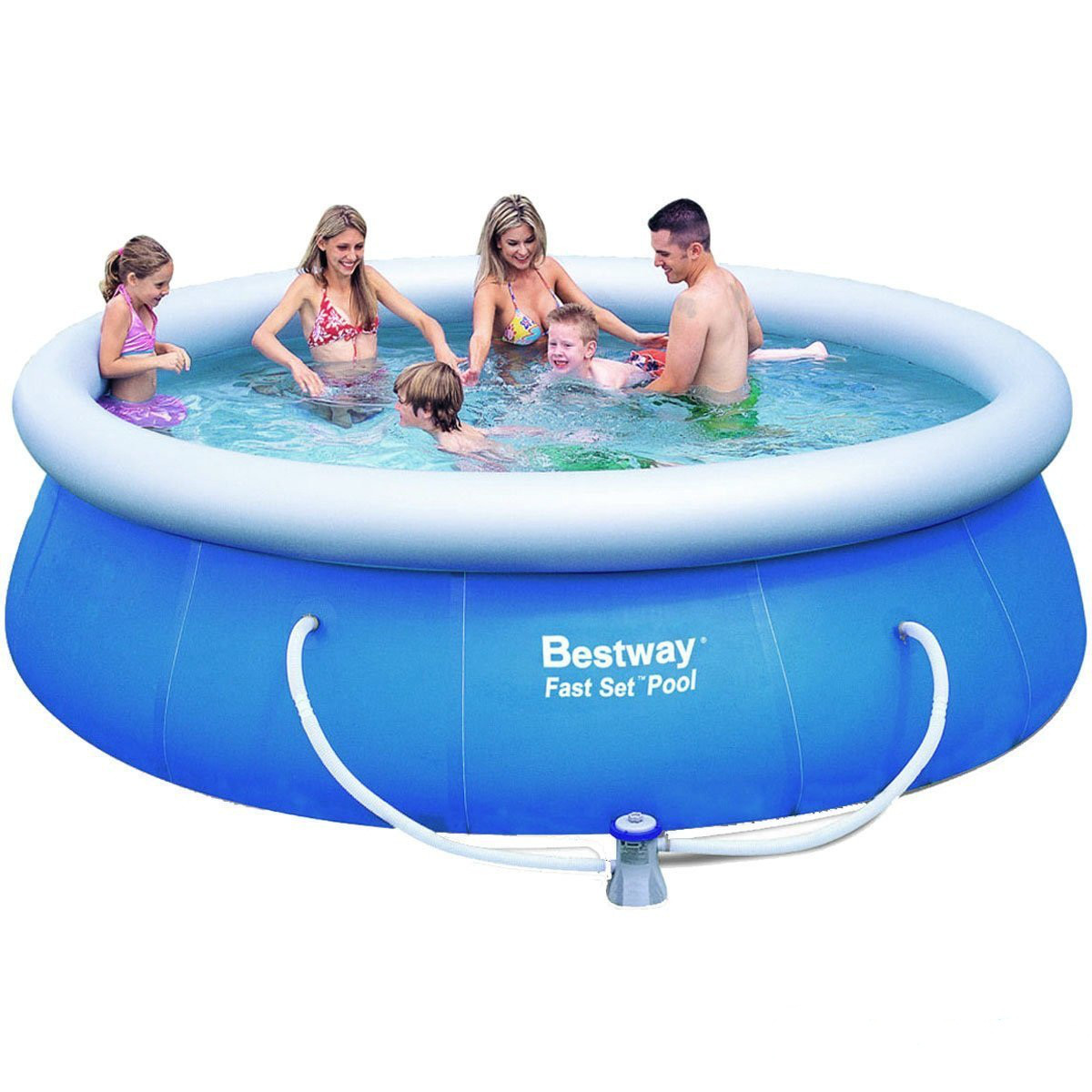 Надувной бассейн Bestway 57263. Семейный Fast Set 366 х 91 см Басейн