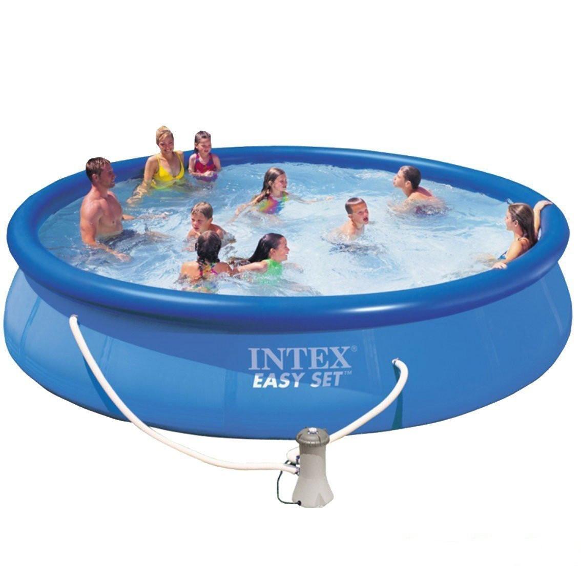 Надувной бассейн Intex 28158. Семейный Easy Set - 457 х 84 см Басейн